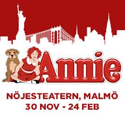 Musikalen Annie Nöjesteatern Malmö